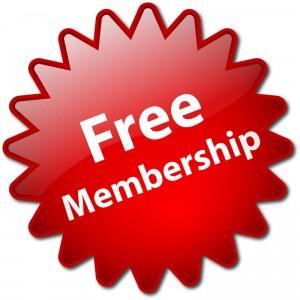 """Free Membership"" stamp"